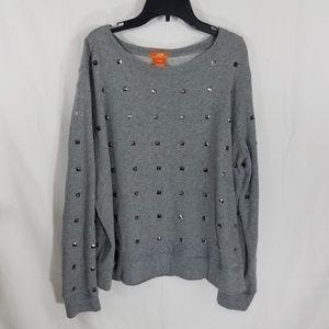 Joe Fresh Sweater Gray Embellished Sweater